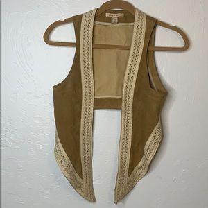 Alice + Olivia suede leather vest